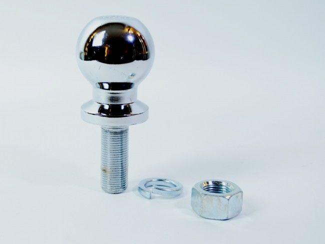 Солидна хромирана топка - ябълка за теглич в комплект с пластмасова капачка