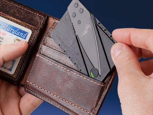 Уникален сгъваем нож формат кредитна карта CARDSHARP