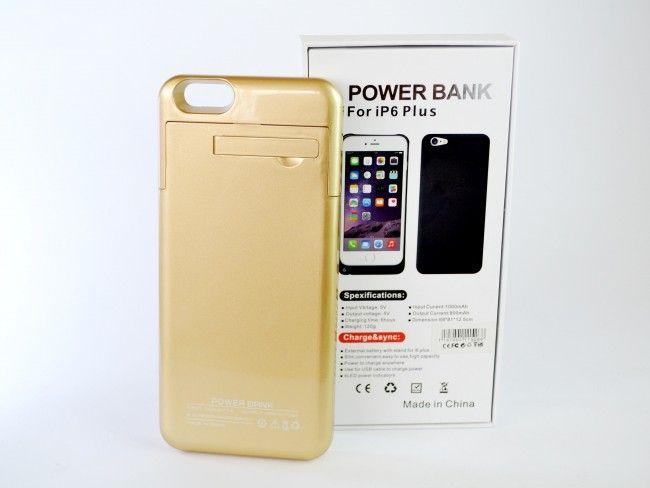 Батерия - калъф за Apple iPhone 6 PLUS6000mAh и ПОДАРЪК кабел за зареждане ~220V
