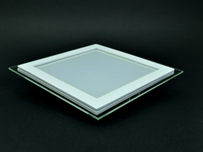 LED осветително тяло за вграждане и стъклен ринг-висока светимост 12W, 6000К бяла светлина