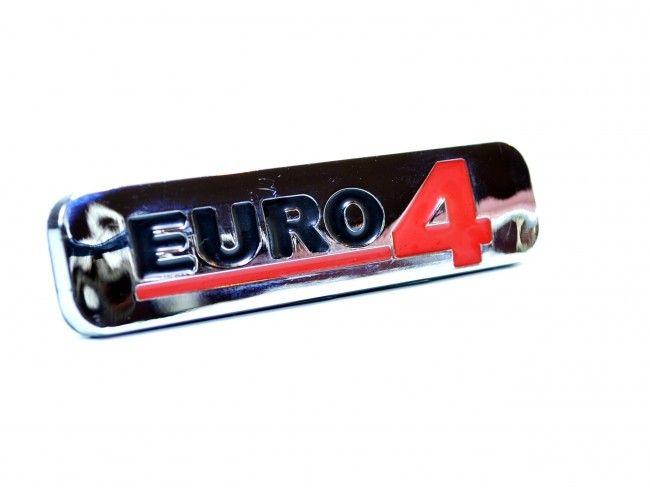 Луксозна хромирана табела EURO 4 - голям размер 170х50 мм