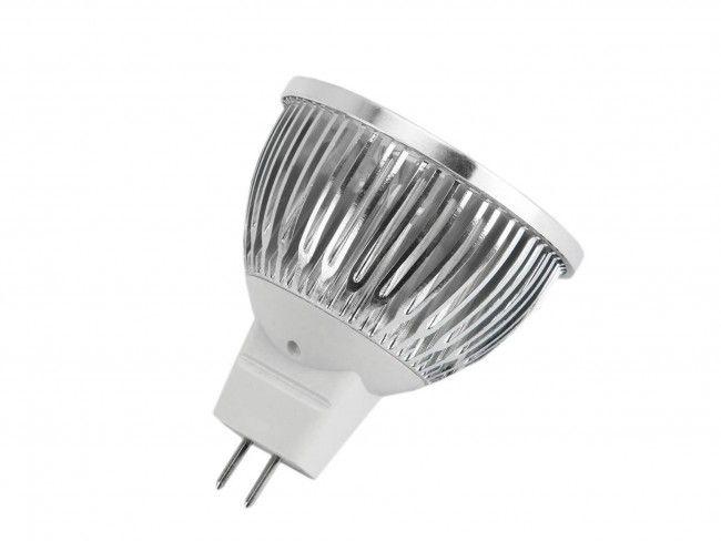 Алуминиева LED спот луничка MR16 12V 4X1 W 270 Lm, 3000К топла жълтеникава светлина, Ф50