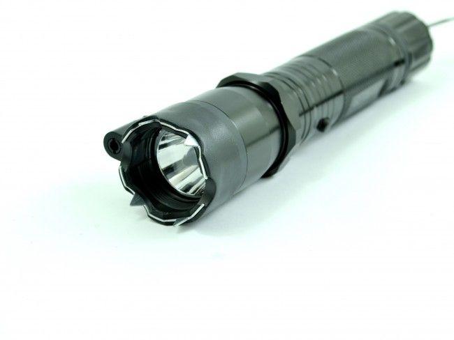 Тежък метален LED фенер Police 1800KW с електрошок, лазер и 220V зареждане