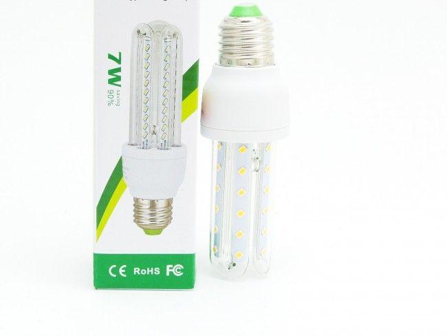 Крушка LED 7W cold white със студена бяла светлина, 6000К, аналог на 125W крушка с жичка