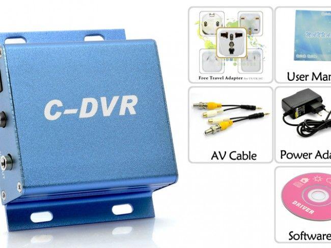 Едноканален аудио-видео DVR със слот за карта памет до 16GB - запис от една камера