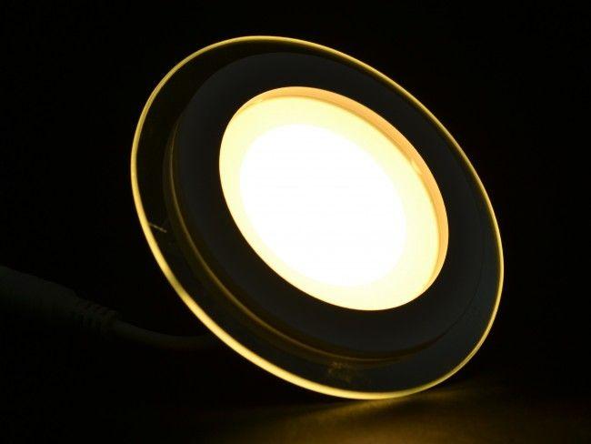 LED осветяващо тяло и стъклен ринг с висока светимост и консумация 6W,3000К жълта светлина
