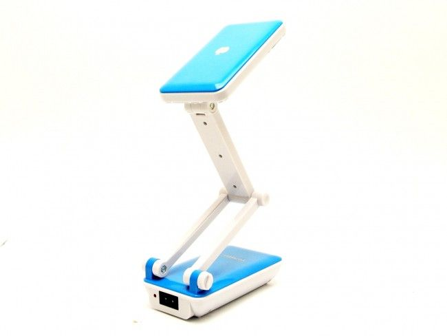 Настолна акумулаторна LED лампа с дълго регулируемо тяло