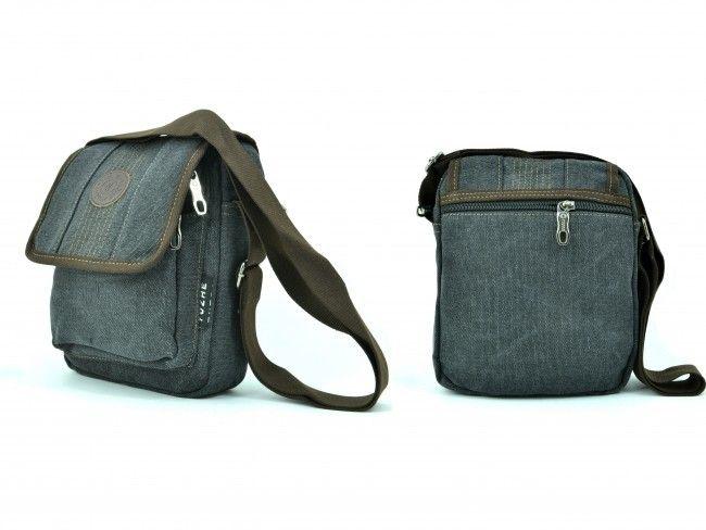 Мъжка чанта - 1607 BLACK за през рамо