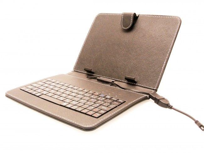 Кожен калъф за таблет 8 инча с кирилизирана клавиатура