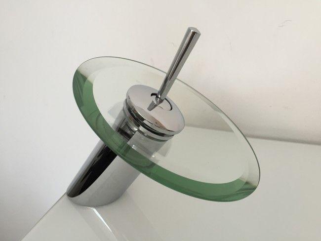 Луксозна батерия-смесител за умивалник ITALOMIX800 GLASS SUN-с елегантна стъклена пита