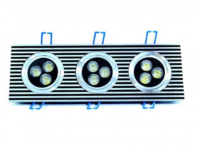LED осветително тяло за вграждане с две регулируеми LED лунички 3x3W, 6000К бяла светлина