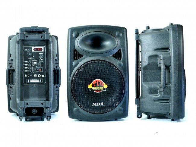 Караоке система MBA W15, 700W, 270W RMS, с 2 безжични микрофона, FM, MP3, BLUETOOTH