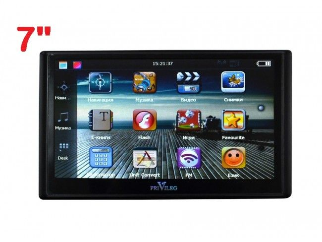 Безотказна GPS навигация PVG 70MT V2 7 inches/12.7, тъч-дисплей, 8GB памет, слот за карта