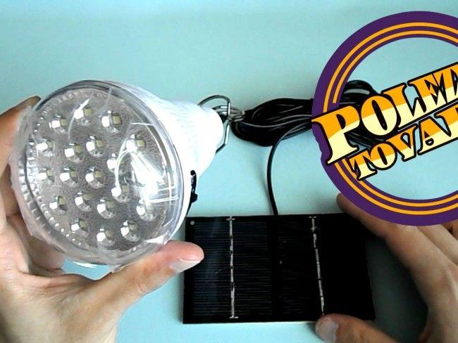 Мощна соларна LED лампа GR-020 с вграден акумулатор, соларно зарядно за къмпинг и риболов