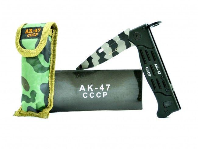 Лимитирана серия AK-47 Калашников B28 метален сгъваем военен нож, с калъф и кутия, от СССР
