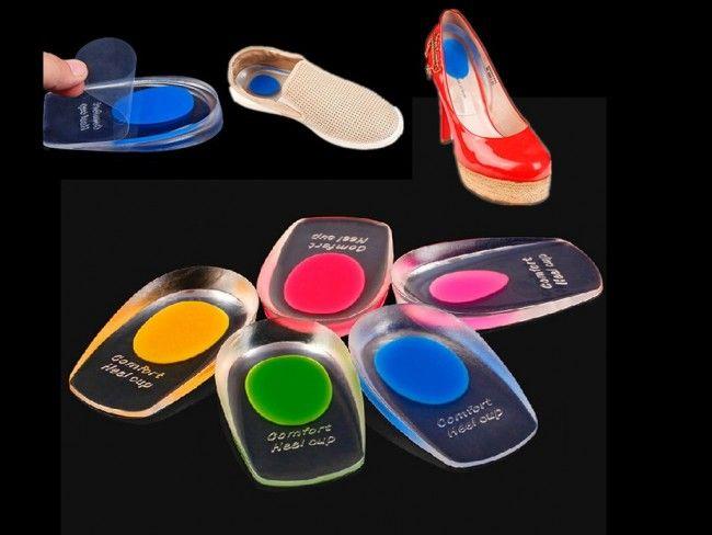 Меки силиконови стелки за пети за мъже и жени релаксират ходилата и подпомагат ходенето