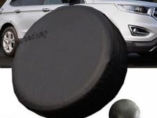 Кожен калъф за резервна гума - 15 или 16 цола, черен цвят