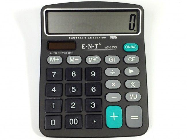 Качествен настолен калкулатор AT-833N ENT с 12 знака
