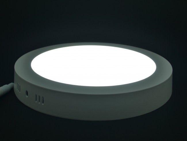 Кръгло LED осветително тяло за стена или таван 18W с външен монтаж, бяла светлина 6000К
