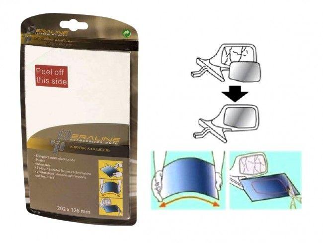 Oгледало LAMPA - замества счупеното автоогледало - изрязваш по формата и залепваш, 65557