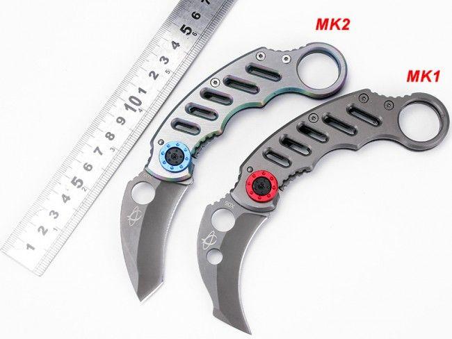Маниашки сгъваем нож MANTIS X05 BLUE KARAMBIT МК2  - MANTIS KNIVES в подаръчна кутия