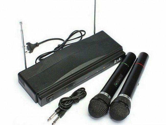 Страхотни 2 бр. БЕЗЖИЧНИ микрофони с приемник АТ-306