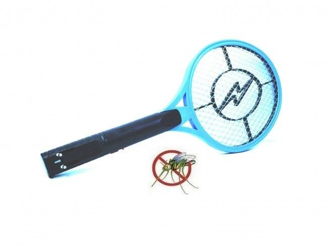 Акумулаторна електрическа бухалка против всякакви насекоми - ликвидира ги във въздуха