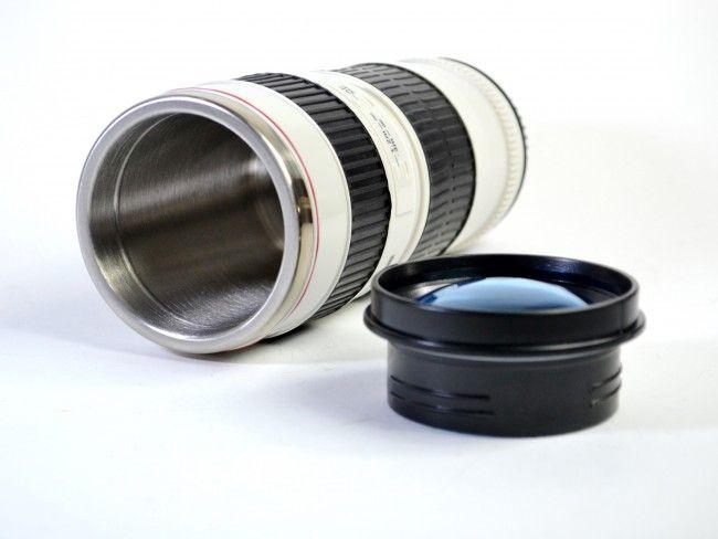 Удобна подгряваща чаша CAMERA MUG с кабел за автозапалка 12V