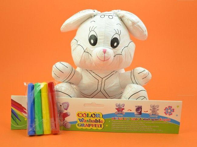 Атрактивна играчка ЗАЙО за оцветяване с маркери. Изпиране и многократно оцветяване