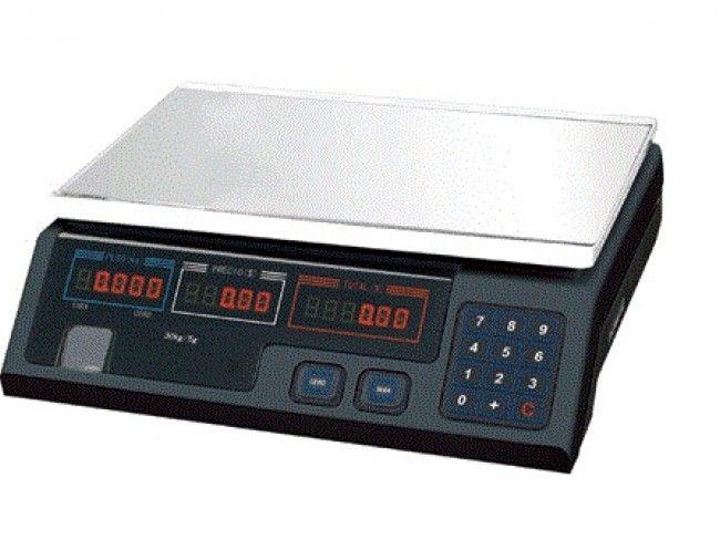 Електронна везна с обхват 30 кг и функция за изчисляване на цената на измерената стока