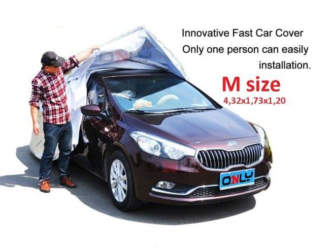 Най-бързо поставящото се покривало за автомобил- FAST CAR COVER, размер М