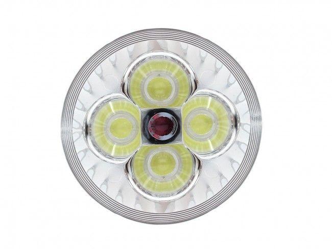 Алуминиева LED спот луничка MR16 12V 4X1 W 270 Lm, 6500К студена бяла светлина, Ф50