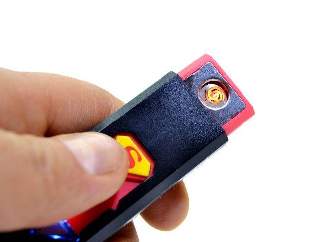 Безопасна ел. запалка за цигари с презареждаема батерия СУПЕРМЕН