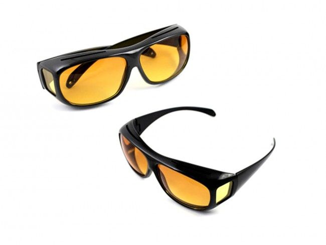 Без заслепяване! Комплект от 2 броя очила за дневно и нощно шофиране HD Vision WrapArounds