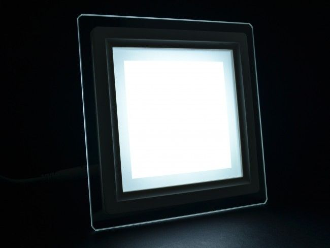 LED осветително тяло за вграждане със стъклен ринг, консумация 12W, 6000К бяла светлина