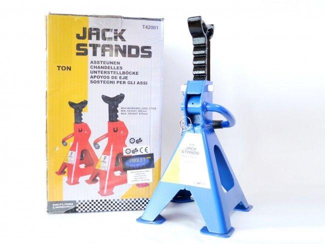 За професионалисти - 2 броя подпорни стойки за автомобил 3000 кг / 3Т JACK STANDS 3T