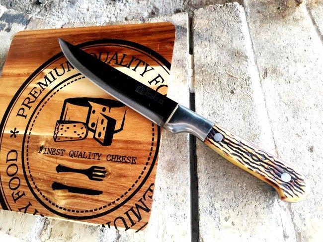 Самурайски нож HONG LI КК-116 с кокалена дръжка и лазерно заточено острие- LONG