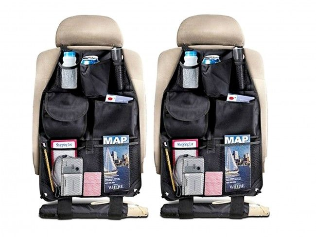 Черен супер органайзер 315 за автоседалка - подредено и удобно отзад