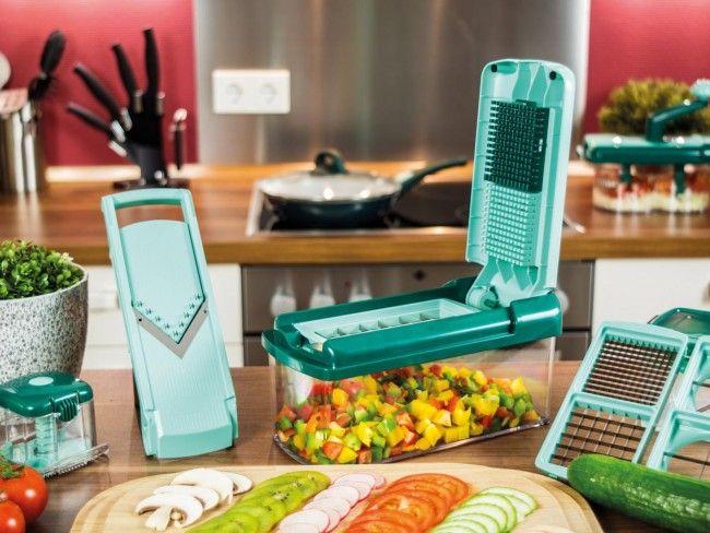 Революционни кухненско ренде Nicer Dicer Fusion - комплект в 13 части