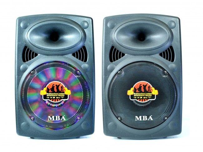 Супер Промо: aктивна автономна кареоке тонколона MBA Q12, 12 inch, 600W, RMS200W