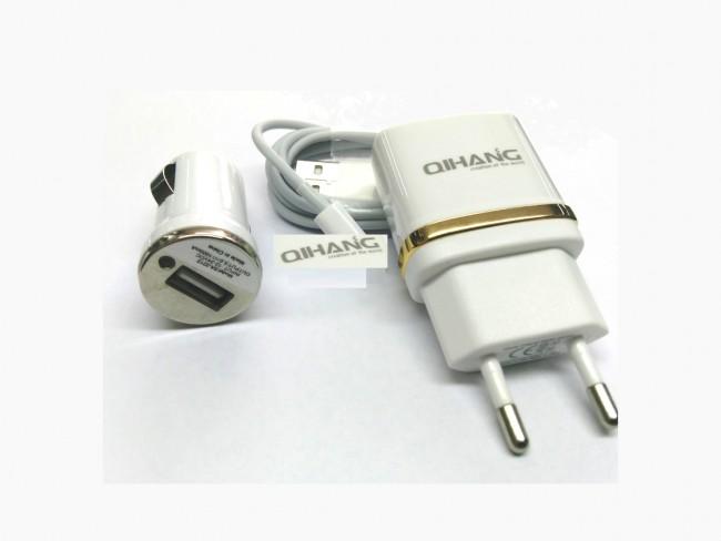 3 в 1 зарядно за MicroUSB Android QIHANG модел QH-C1570