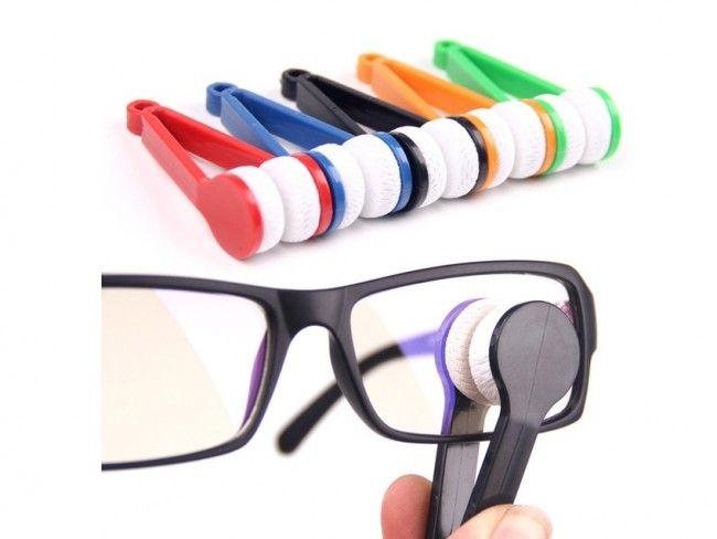 Микрофибърна двойна чистачка зa очила