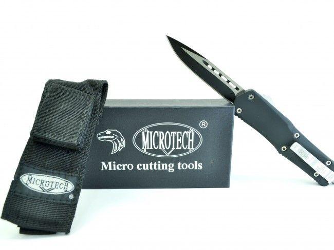 Високотехнологичен американски пружинен нож Micro Cutting Tools A07 BLACK - MICROTECH