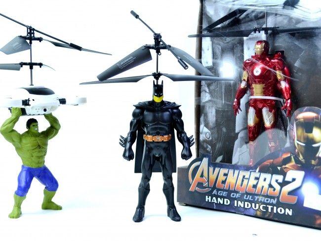 Летящ BATMAN с вградена батерия, мощни перки и елементарно управление за всяко дете