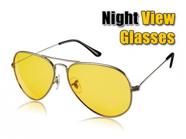 Очила за нощно шофиране - HD Night Vision тип Ray Ban Aviator с метална рамка