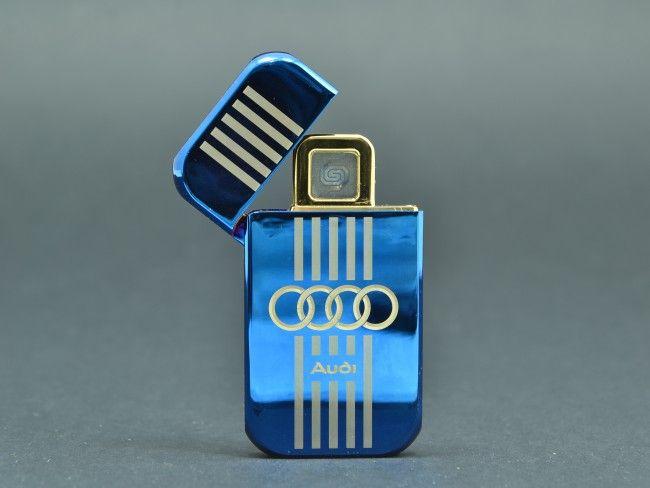 Елегантна USB запалка AUDI с вградена батерия, метален корпус и подаръчна кутия + ПОДАРЪК