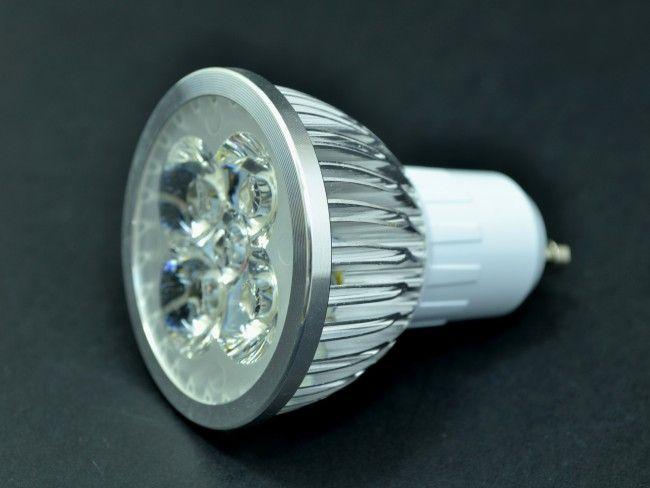 LED крушка  GU10 4x1W 270 Lm, AC ~220V, 2700K топла жълтеникава светлина, 40°, Ф50