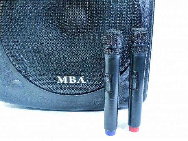 Мощна активна караоке тонколона MBA F15 с 2 безжични караоке микрофона, 750W