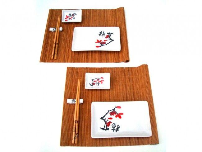 Луксозен двоен суши сет - Японска вишна