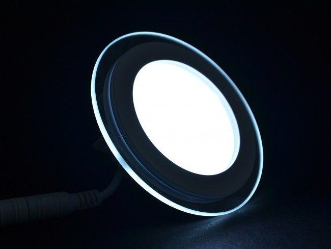 LED осветително тяло за вграждане със стъклен ринг 6W, 6000K студена бяла светлина